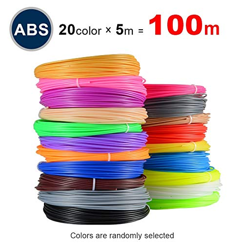 Sin KF-3D, Perfecto 3d Pen Especial Abs Filamento Pla 1,75 mm Pla Impresora 3D Abs 3d Pen Pla Plástico 20 Colores Abs 1.75