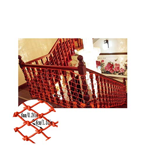 Child Safety Net Child Safety Swimming Pool Protector Balcony Protection Net Stairs Shatter-Resistant Net Kindergarten Decoration Net Orange Wall Decoration Net (Size : 1x10m)