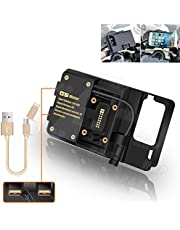 R&P R1200GS Soporte de navegación para teléfonos móviles ADV F700 800GS CRF1000L Gemelo Africano para BMW Honda Motocicleta Carga USB Montaje de 12 mm