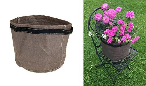 Pot de fleurs pliable pour balcon - 40 x 35 cm - En plastique