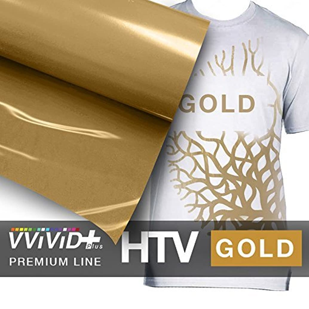 VVIVID+ Gold Premium Line Heat Transfer Vinyl Film for Cricut, Silhouette & Cameo (12