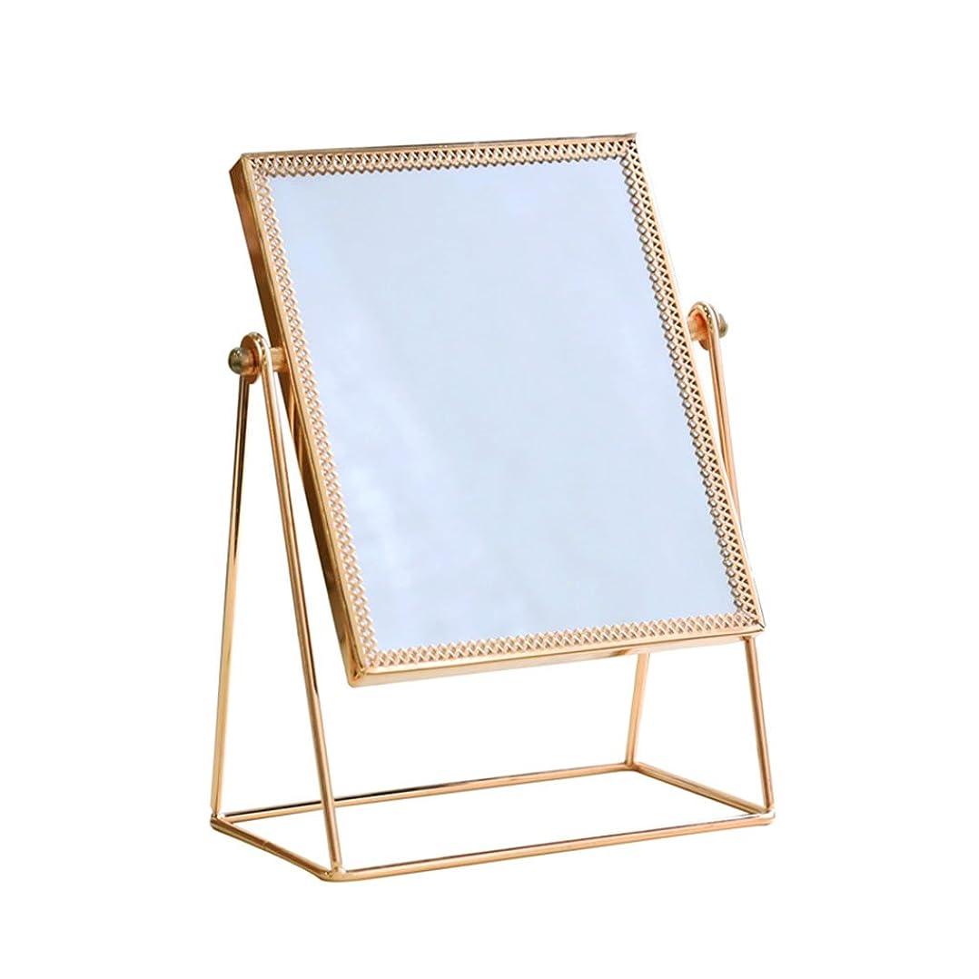 習字見積り静けさ正方形ミラー/HDの虚栄心ミラー/化粧品ミラー、多機能の金属の寝室のデスクトップミラー