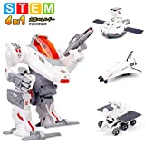 Sillbird STEM 4-in-1ソーラー科学ロボットキット キッズ 教育用 宇宙 月 探査 艦隊 組み立て式 実験 おもちゃキット 8歳以上の男の子・女の子に適用