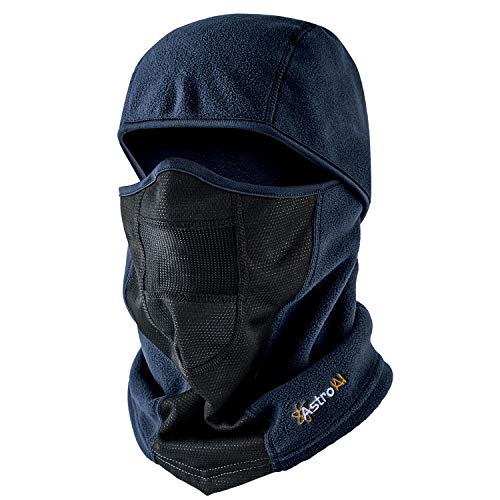 AstroAI Balaclava Ski Mask Winter Face Mask for Cold Weather Windproof Breathable for Men Women Skiing Snowboarding & Motorcycle Riding, Blue