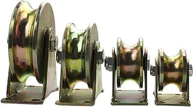 DGXQ Pack van 4 schuifpoort rolgroef wiel U-groef, V-groef, T-groef, H-groef, met beugel voor omgekeerde spoor, rollende p...