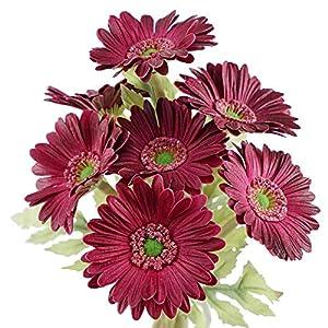 Silk Flower Arrangements FiveSeasonStuff Gerbera Daisy Artificial Silk Flowers Arrangement & Wedding Bouquet