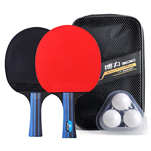Check Out This Walmeck 1 Pair Professional Training Table Tennis Bat Horizontal & Pen-Hold with 3PCS...