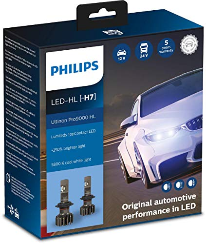 Philips Ultinon Pro9000 LED faros delanteros (H7), paquete doble