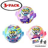 Pikmi Pops Surprise Bubble Drops Neon Wild Series (3 Pack) Purple Blue Pink and 2 GosuToys Stickers