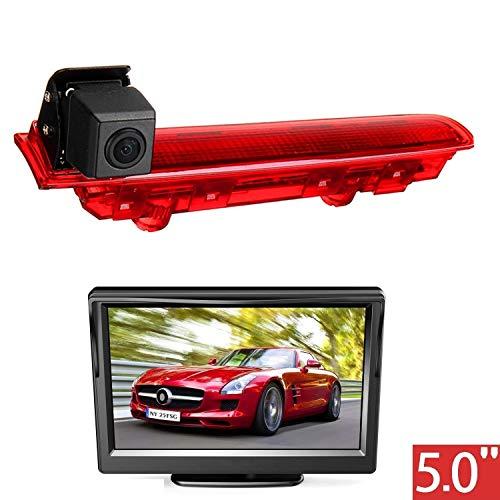 HD 720p dakrand parkeerhulp achteruitrijcamera geïntegreerd in 3e Remlicht camera voor VW T5 T6 Transporter/Caravelle/Multivan 2010-2016+ 5.0 inch dvd-monitor TFT-beeldscherm vrachtwagen auto LCD-display