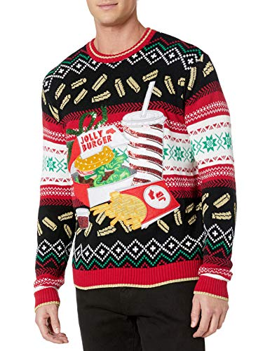 Blizzard Bay Men's Ugly Christmas Sweater Food 3 Festive and humorous patterns that are perfect for the holiday season Made with a soft knit for a comfortable and easy fit