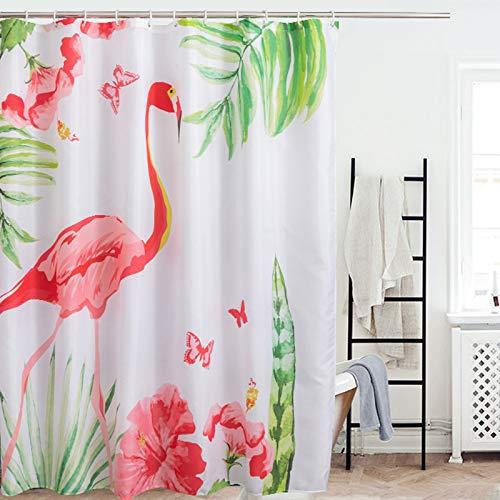 EINSKEY Duschvorhänge 180 x 180 Anti Schimmel Wasserdicht Shower Curtains mit 12 Duschvorhangringen
