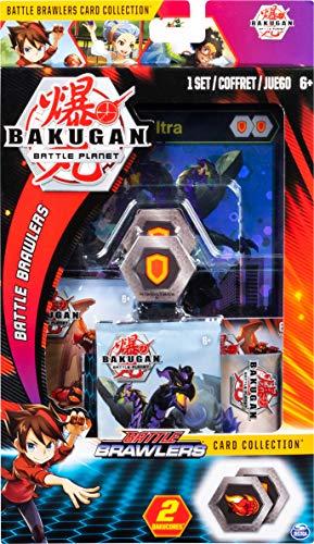 Bakugan Deluxe Battle Brawlers Kartensammlung mit Jumbo Folie Nillious Ultra Karte ab 6 Jahren