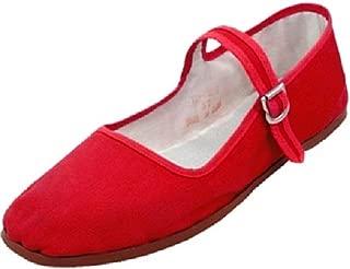Women's Cotton Mary Jane Shoes Ballerina Ballet Flats Shoes