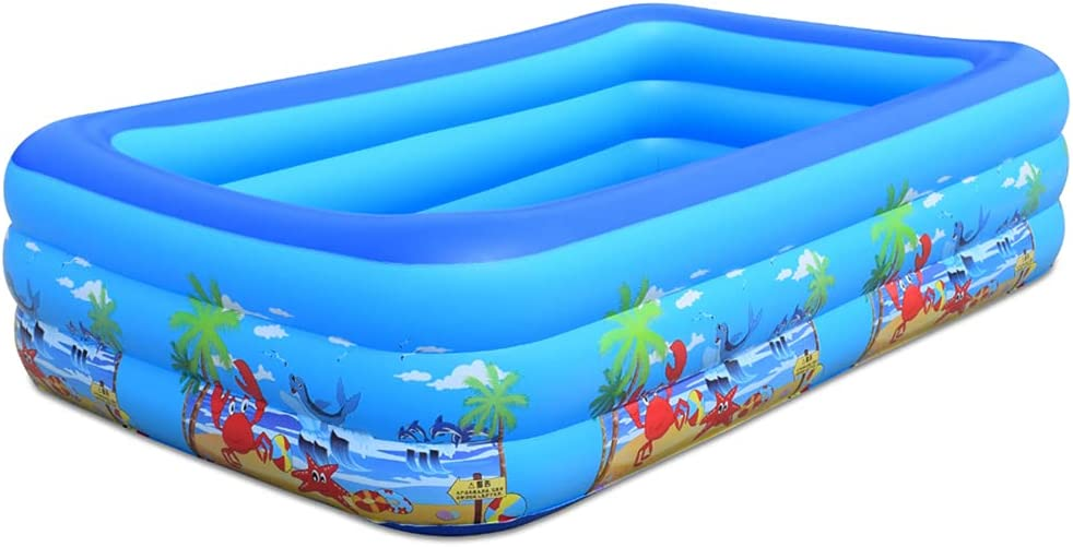 Inflatable Pool Blow Up Super beauty product lowest price restock quality top Ground Full-Sized Kids for Swimming
