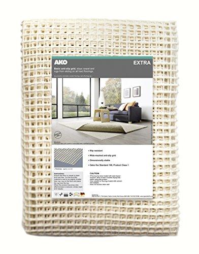 Rugs & Stuff Teppichunterlage, rutschfest, für harte Böden, verschiedene Größen erhältlich, plastik, beige, 80 x 150cm
