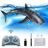 CestMall Mini RC Water Toy Simulado Shark Fish Toy para niños Underwater Shark Swim Control Remoto Juguete Shark Water Game Barco Juguetes Recargable Electronic Bath Toy