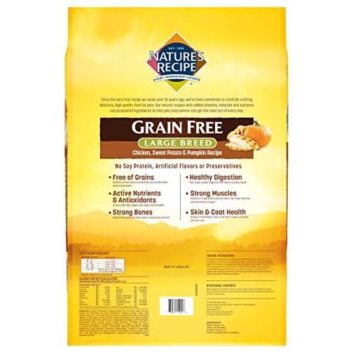 Nature's Recipe Grain Free Large Breed Dry Dog Food, Chicken, Sweet Potato & Pumpkin Recipe 5