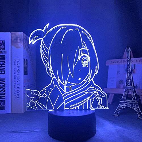 FUTYE 3D luz nocturna ilusión japonesa anime decoración LED anime inodoro Hanako Kun Yahiro Nene Anime luz LED para decoración de dormitorio niños regalo de cumpleaños manga noche lámpara