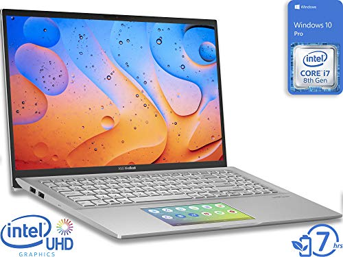 ASUS VivoBook S15 Laptop, 15.6' FHD Display, Intel Core i7-8565U Upto 4.6GHz, 8GB RAM, 128GB NVMe SSD, HDMI, Card Reader, Wi-Fi, Bluetooth, Windows 10 Pro