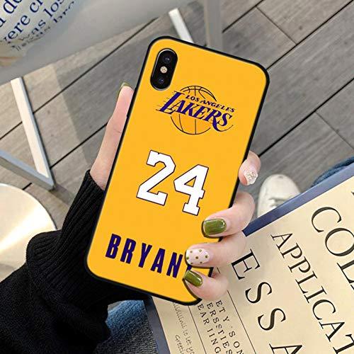 XMYP Funda para iPhone 12 negro Mamba Kobe Funda para teléfono móvil, silicona suave, flexible, TPU para fans de baloncesto, para iPhone 12/12 Mini/12 Pro/12 Pro Max Q- 12 Pro Max