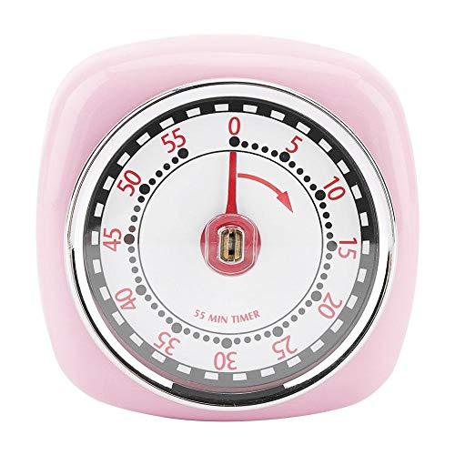 Weiyiroty Temporizador de Cocina, Temporizador de Acero Inoxidable, Antióxido, Profesional, Cocina Temporizador doméstico fácil de Usar con Base magnética(Pink)