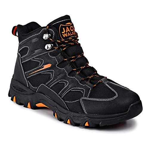 Jack Walker Herren Hike Wasserdicht Trekking Gehen Wanderstiefel Leder Stiefel atmungsaktiv leicht JW7255 (42 EU)