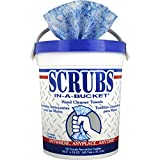 Scrubs, ITW42272CT, in-A-Bucket Hand Cleaner Towels, 6 / Carton, Blue