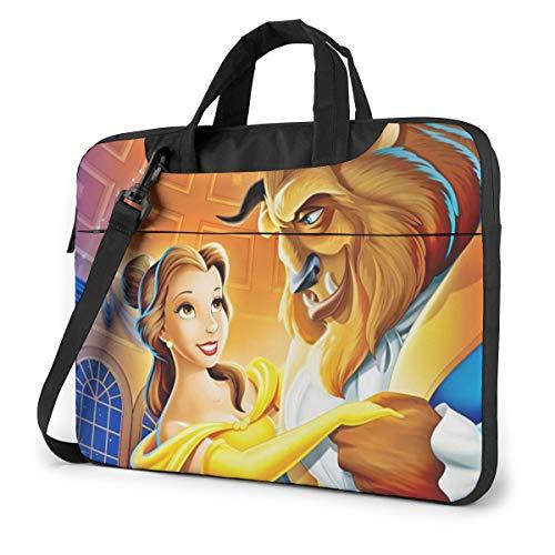 Beauty Beast Laptop Sleeve Case Handheld One Shoulder Shockproof Oxford Protective Case/Notebook Computer Pocket Case/Tablet Briefcase Carrying Bag Compatible-13 inch