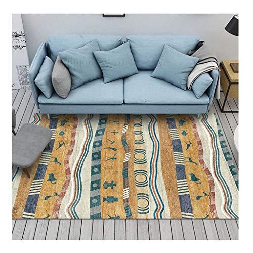 TTRY&ZHANG Alfombra de la Sala Simple patrón de mármol Moderna Mesa Rectangular Alfombra Dormitorio Colchón (Color : F, Size : 140 * 200cm)