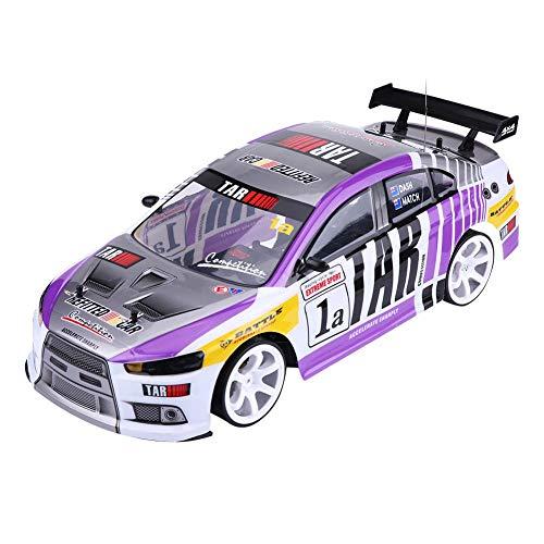 Coche RC,1/10 Escala Coche de Control Remoto de Alta Velocidad 4WD RC Racing Car Drift Vehículo de Juguete Electric Sport Racing Coche de Juguete para Adultos Niños(70km/h Dos baterías para automóvil)