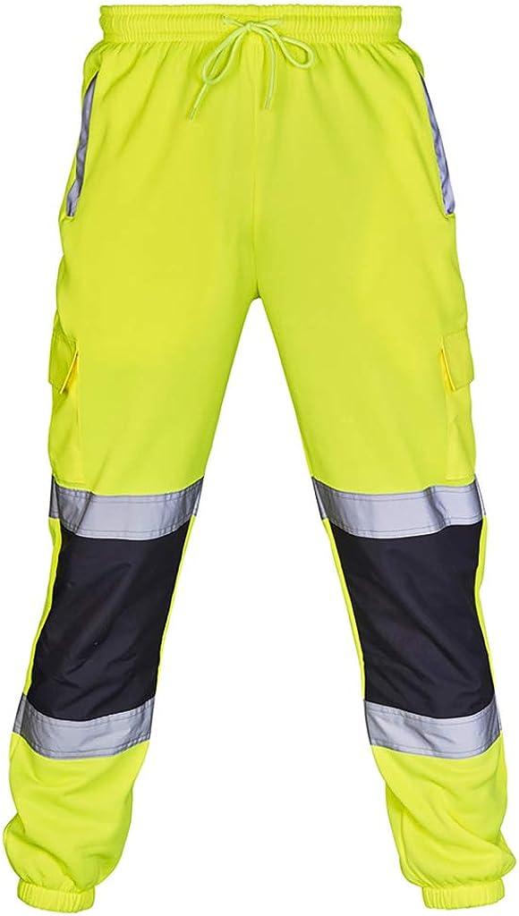 Men's Work Pants Reflective Safety Construction Pants High Visib