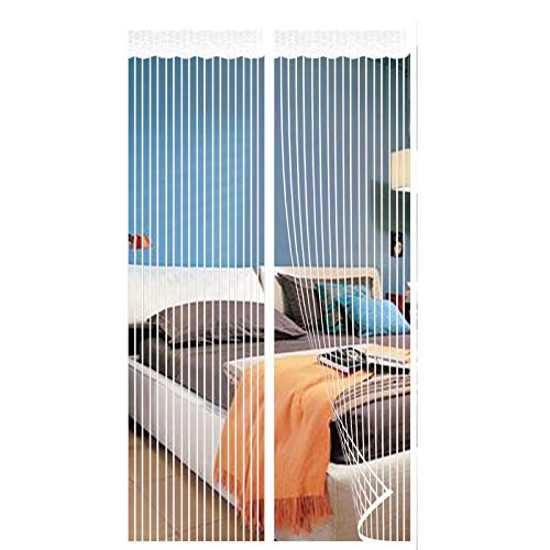 Zanzariera Magnetica,Zanzariera Magnetica Per Porta Sigillatura Porte Chiusura Automatica Impedisce Insetti,per Porte Balcone-white 2  120x185cm(47x72inch)