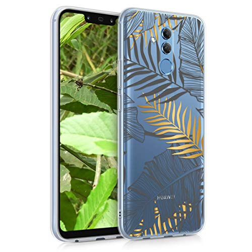 Preisvergleich Produktbild kwmobile Huawei Mate 20 Lite Hülle - Handyhülle für Huawei Mate 20 Lite - Handy Case in Dschungel Design Gold Grau Transparent
