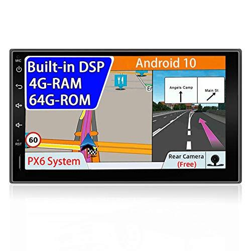 KAUTO PX6 Android 10 Unidad Principal estéreo de Coche con Doble Dinar |10,1 Pulgadas |4G - RAM / 64G