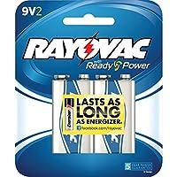 Rayovac a1604–2Fアルカリ電池(9V、2PK