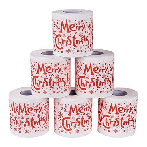 Rollos de Papel higiénico Feliz Navidad Papá Noel, servilleta, Broma, Divertida, Fiesta de cumpleaños, Navidad, Novedad, Regalo, Idea (6...