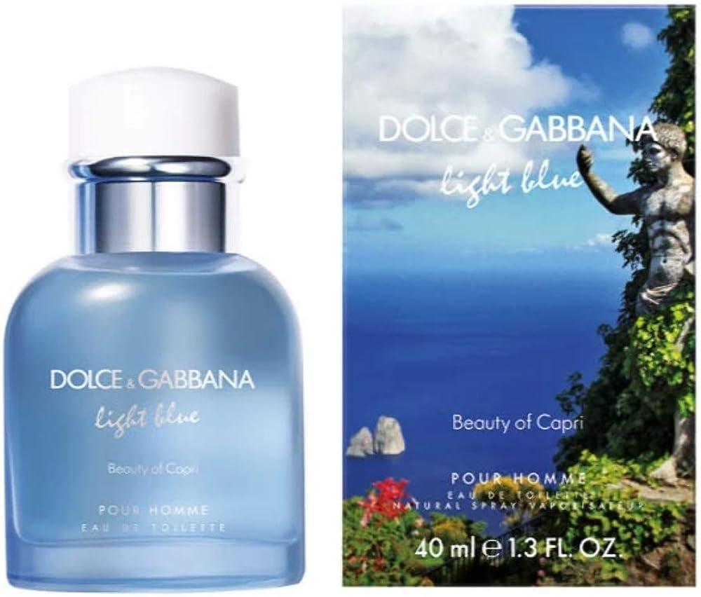 dolce & gabbana alcolica - light blue capri ph - 40 ml 1290