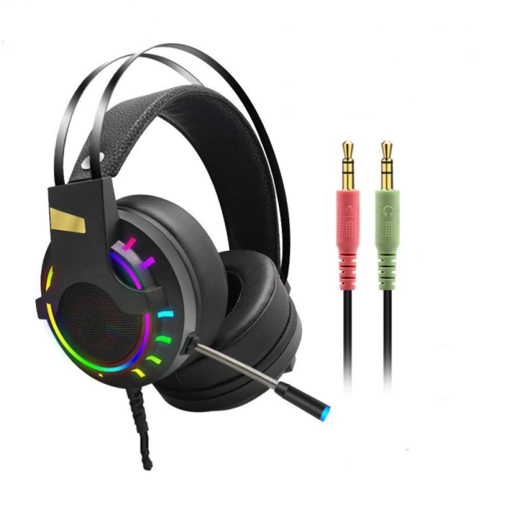 Auriculares estéreo para juegos con reducción de ruido, auriculares para PS4, Xbox One, con cancelación de ruido y control en línea para PS4/Xbox 1/PC 3.5interface negro: Amazon.es: Electrónica