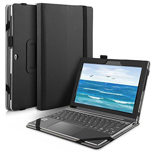 IVSO Lenovo Miix 320 hülle,hochwertiges PU Leder Etui hülle Tasche Hülle - mit Standfunktion für Lenovo Miix 320 Tablet-PC ideal geeignet (Für Lenovo Miix 320, Schwarz)