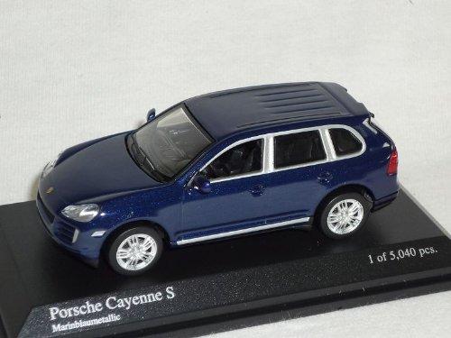 Minichamps Porsche Cayenne S Blau 1. Generation 2002-2010 1/64 Modell Auto Modellauto