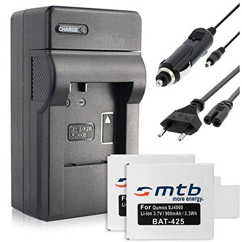 2X Baterìas + Cargador (Coche/Corriente) para Qumox SJ4000, SJ5000, SJ6000 / SJCam M10 / BOOMYOURS. v. Lista!