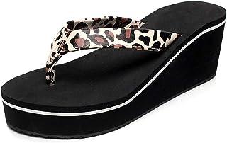 AUCDK Women Wedge Heel Flip Flops Clip Toe Platform Sandals Casual Comfy Pool Slipper Summer Beach Shoes