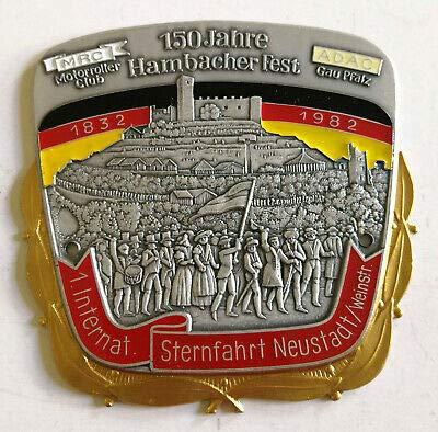 generisch Plakette 1. Internat. Sternfahrt Neustadt 1982 MRC Motorroller Club ADAC Pfalz