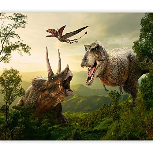 murando Fototapete Dinosaurier 300x210 cm Vlies Tapeten Wandtapete XXL Moderne Wanddeko Design Wand Dekoration Wohnzimmer Schlafzimmer Büro Flur Dinosaurier Figur Weiß e-C-0075-a-a
