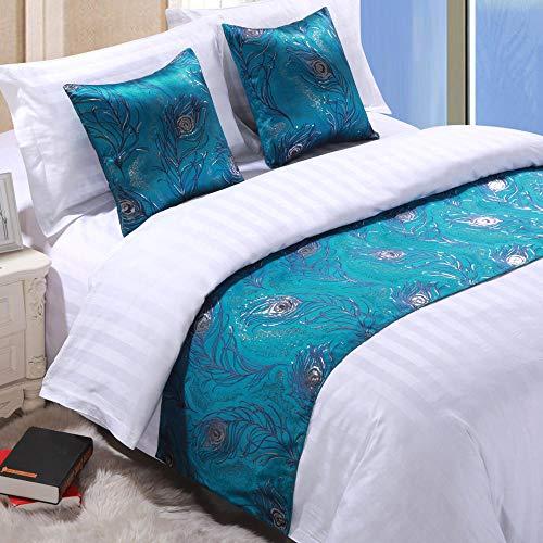 YYSWIM sänglöpare scarf säng flagga europeisk stjärnhotell, möbelduk dekoration, sänghalsduk, sängflagga, madrass & vit@ 1,5 m bred säng/50 x 210 cm
