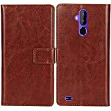Lankashi PU Flip Leather Case For MEDION LIFE S5004 MD