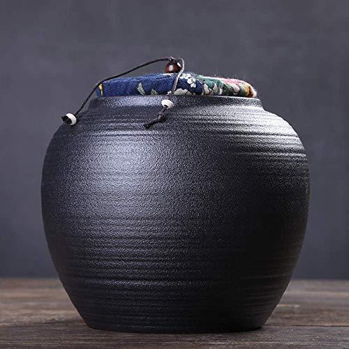 GCZZYMX Adulto Funeraria urna cerámica de gran capacidad sello a prueba de humedad artesanal cremación urnas para cenizas humanas una pequeña cantidad