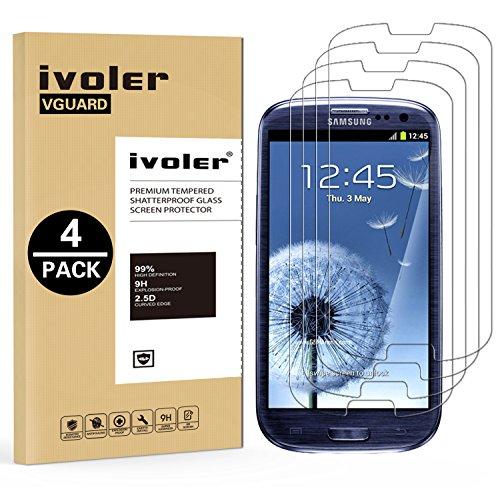 ivoler [4 Unidades] Protector de Pantalla Compatible con Samsung Galaxy S3 / S3...
