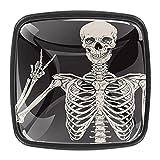 Tiradores cajón cristal 4 piezas perillas gabinete,Victoria de esqueleto humano ,para puerta cocina escritorio tocador
